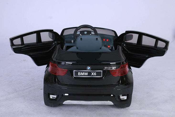 trendmax24 lizenz kinder elektrofahrzeug bmw x6 schwarz. Black Bedroom Furniture Sets. Home Design Ideas