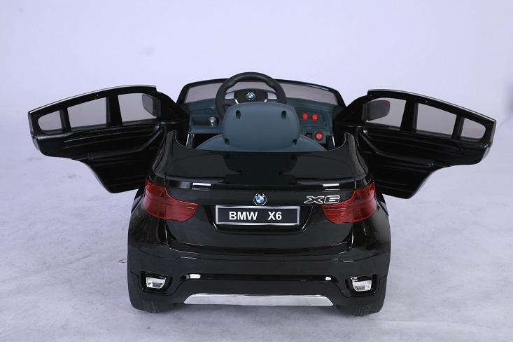 trendmax24 lizenz kinder elektrofahrzeug bmw x6 schwarz. Black Bedroom Furniture Sets. Home Design Ideas